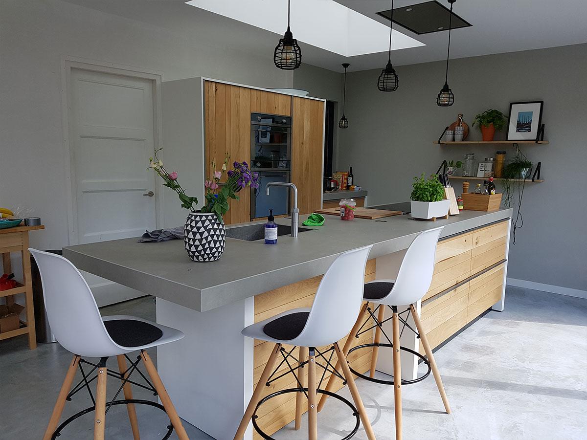 Aanbouw keuken haren timmerbedrijf kooi